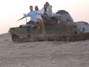 on a tank